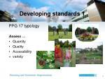developing standards 1