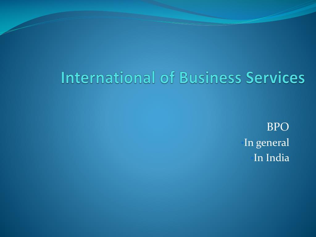 International of Business Services