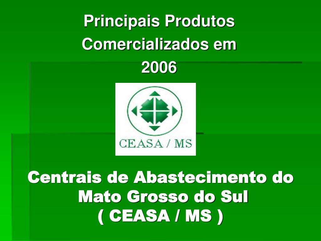 centrais de abastecimento do mato grosso do sul ceasa ms l.
