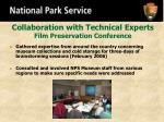 collaboration with technical experts film preservation conference