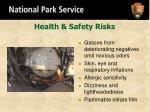 health safety risks