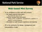 web based mini survey