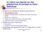 6 1 g rer ses signets sur des plateformes de partage en ligne delicious