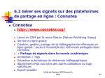 6 2 g rer ses signets sur des plateformes de partage en ligne connotea