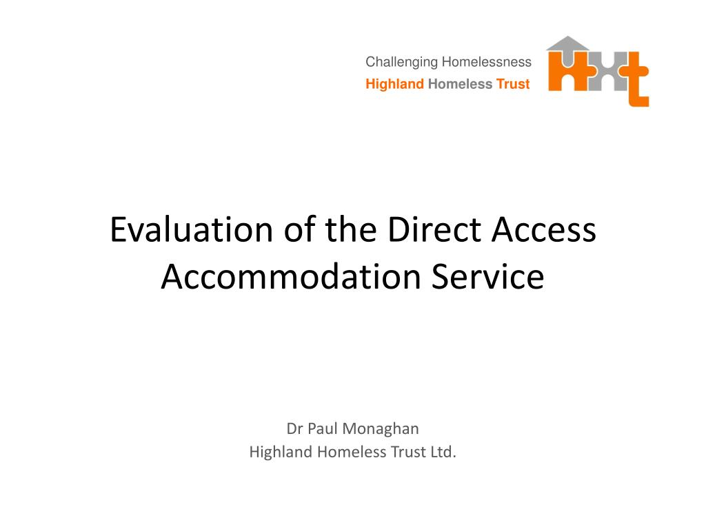 evaluation of the direct access accommodation service l.