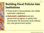 building fiscal policies into institutions90