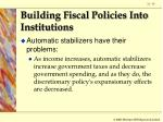 building fiscal policies into institutions93