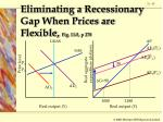 eliminating a recessionary gap when prices are flexible fig 11 5 p 278