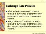 exchange rate policies44