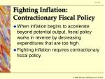 fighting inflation contractionary fiscal policy