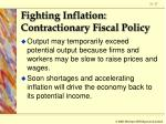 fighting inflation contractionary fiscal policy17