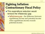 fighting inflation contractionary fiscal policy19
