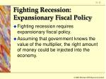 fighting recession expansionary fiscal policy12