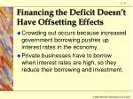 financing the deficit doesn t have offsetting effects65
