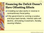 financing the deficit doesn t have offsetting effects68