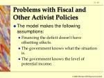 problems with fiscal and other activist policies60