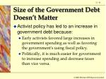 size of the government debt doesn t matter81