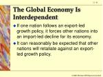 the global economy is interdependent