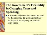 the government s flexibility in changing taxes and spending79