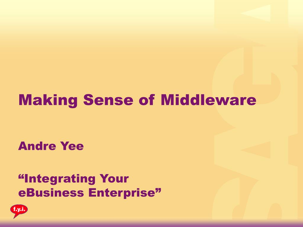making sense of middleware l.