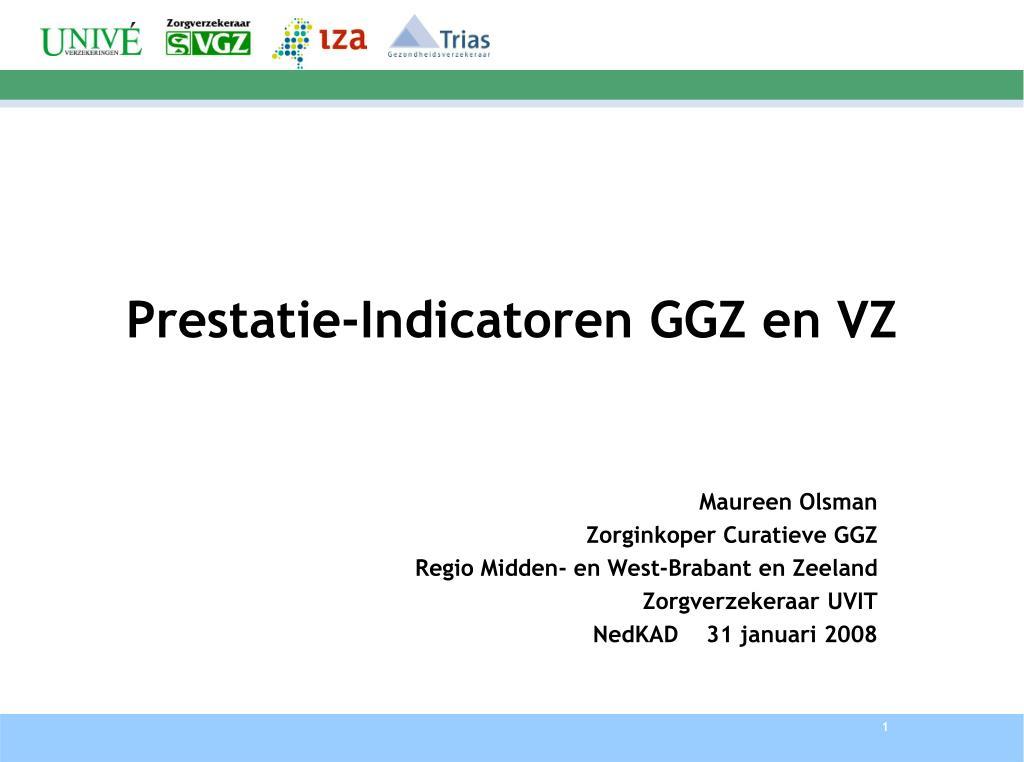 prestatie indicatoren ggz en vz l.