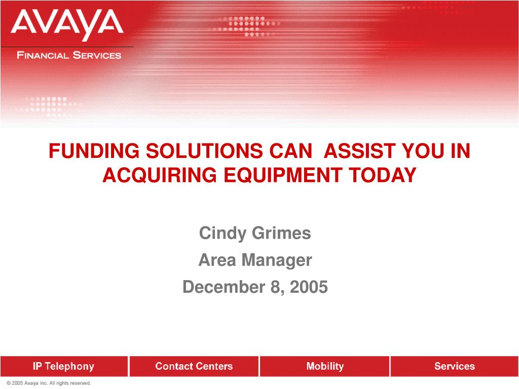 funding solutions can assist you in acquiring equipment today l.