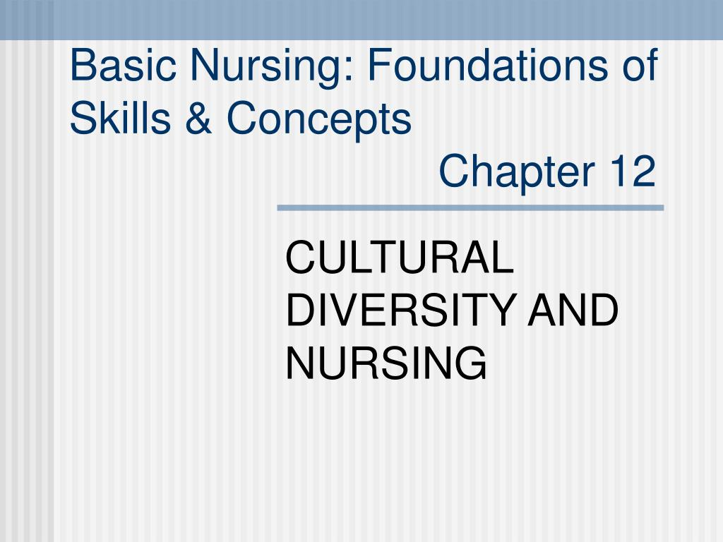 basic nursing foundations of skills concepts chapter 12 l.