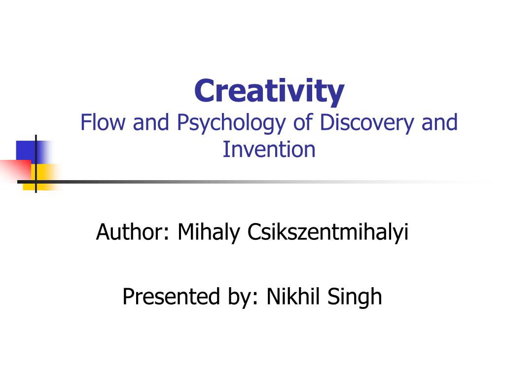 creativity flow and psychology of discovery and invention l.