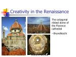 creativity in the renaissance
