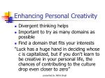 enhancing personal creativity25
