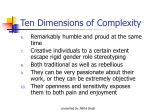 ten dimensions of complexity12