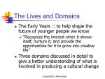 the lives and domains