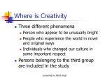 where is creativity