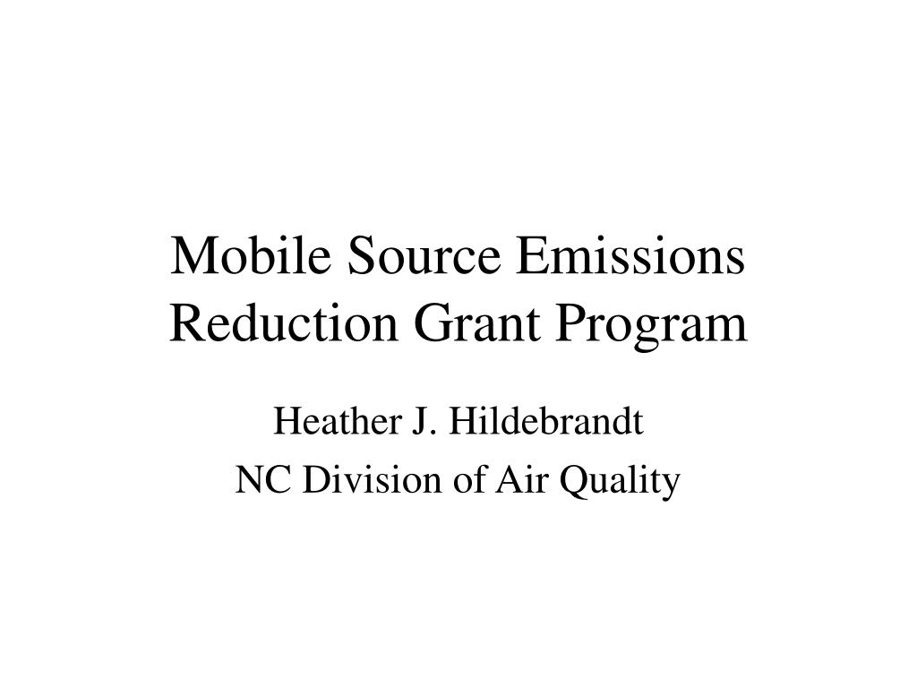 mobile source emissions reduction grant program l.