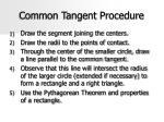 common tangent procedure