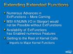 extending extended functions