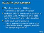 iscsiprt and storport