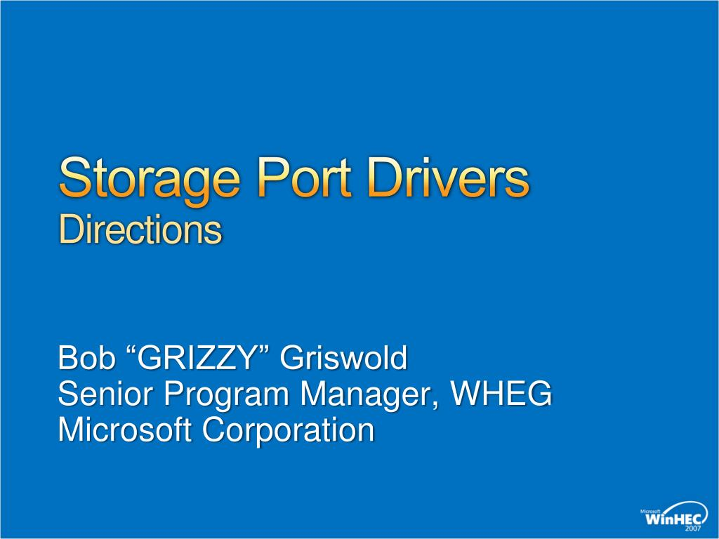 storage port drivers directions l.