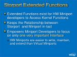storport extended functions