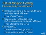 virtual miniport coding important design considerations