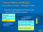 virtual miniport model a one driver storport vminiport model