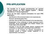 ppb application