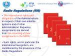 radio regulations rr