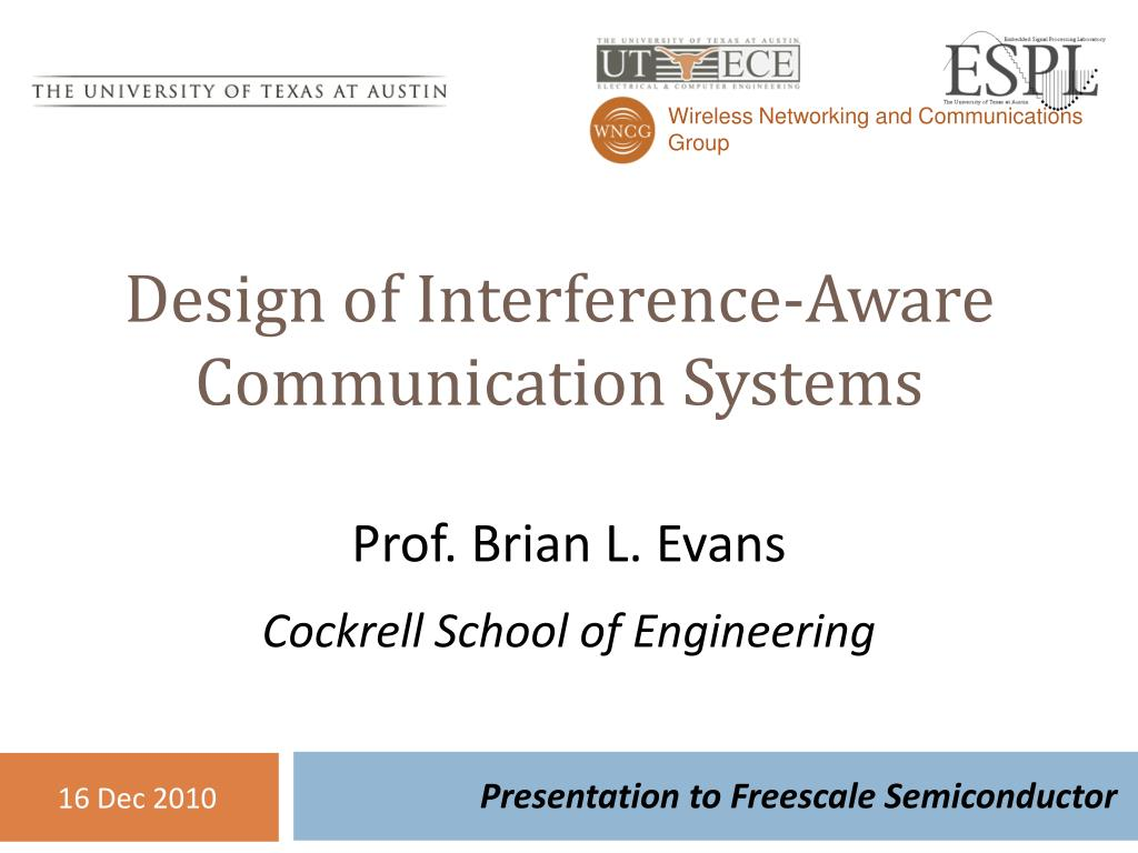 design of interference aware communication systems l.