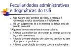 peculiaridades administrativas e dogm ticas do isl