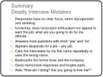 summary deadly interview mistakes21