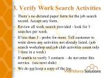 3 verify work search activities