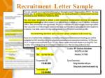 recruitment letter sample