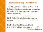 rescheduling continued25