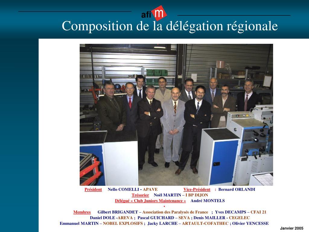Composition de la délégation